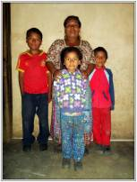 La famiglia di Erick Estuardo