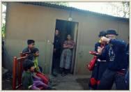 La casa e la famiglia di Jose, Ana Isabel e Yorleny